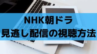 NHK朝ドラの見逃し配信の視聴方法【2019】