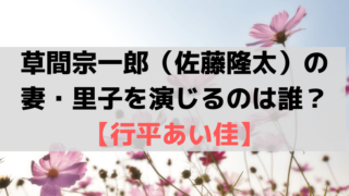 「スカーレット」草間(佐藤隆太)の妻・里子を演じるのは誰?行平あい佳(ゆきひらあいか)